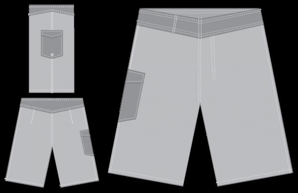 Mangrove Monkey Epic Custom Boardshorts Resting
