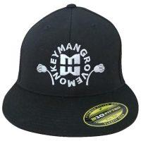 Mangrove Monkey Embroidered Black FlexFit Hat