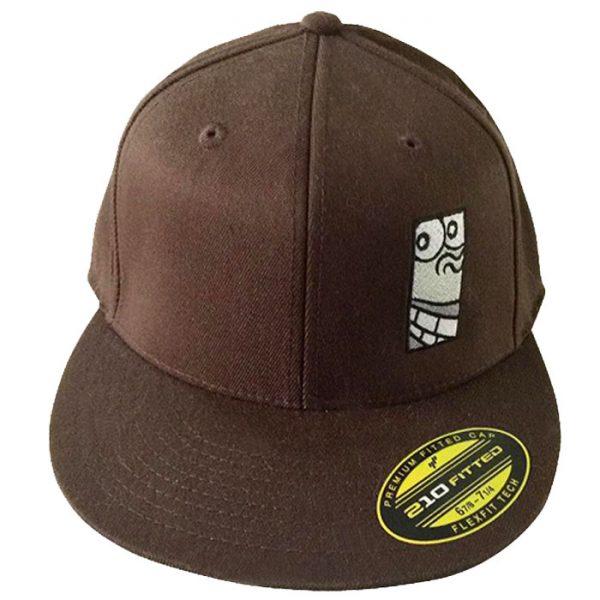 Mangrove Monkey Embroidered Brown FlexFit Hat
