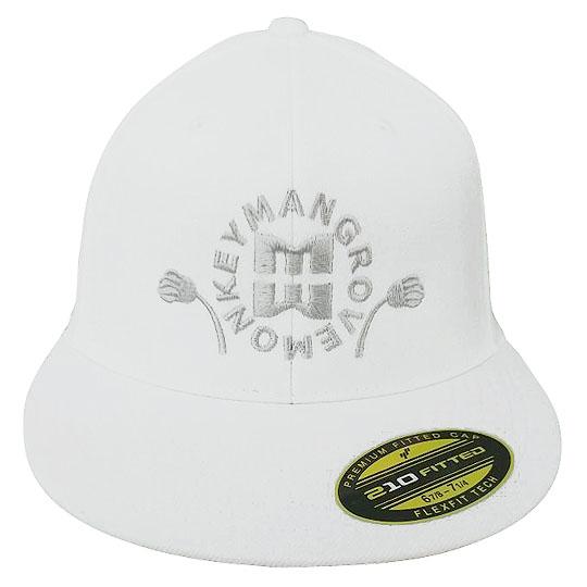 Mangrove Monkey Embroidered White FlexFit Hat